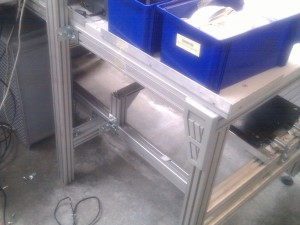 aluminium table leg from industrial case
