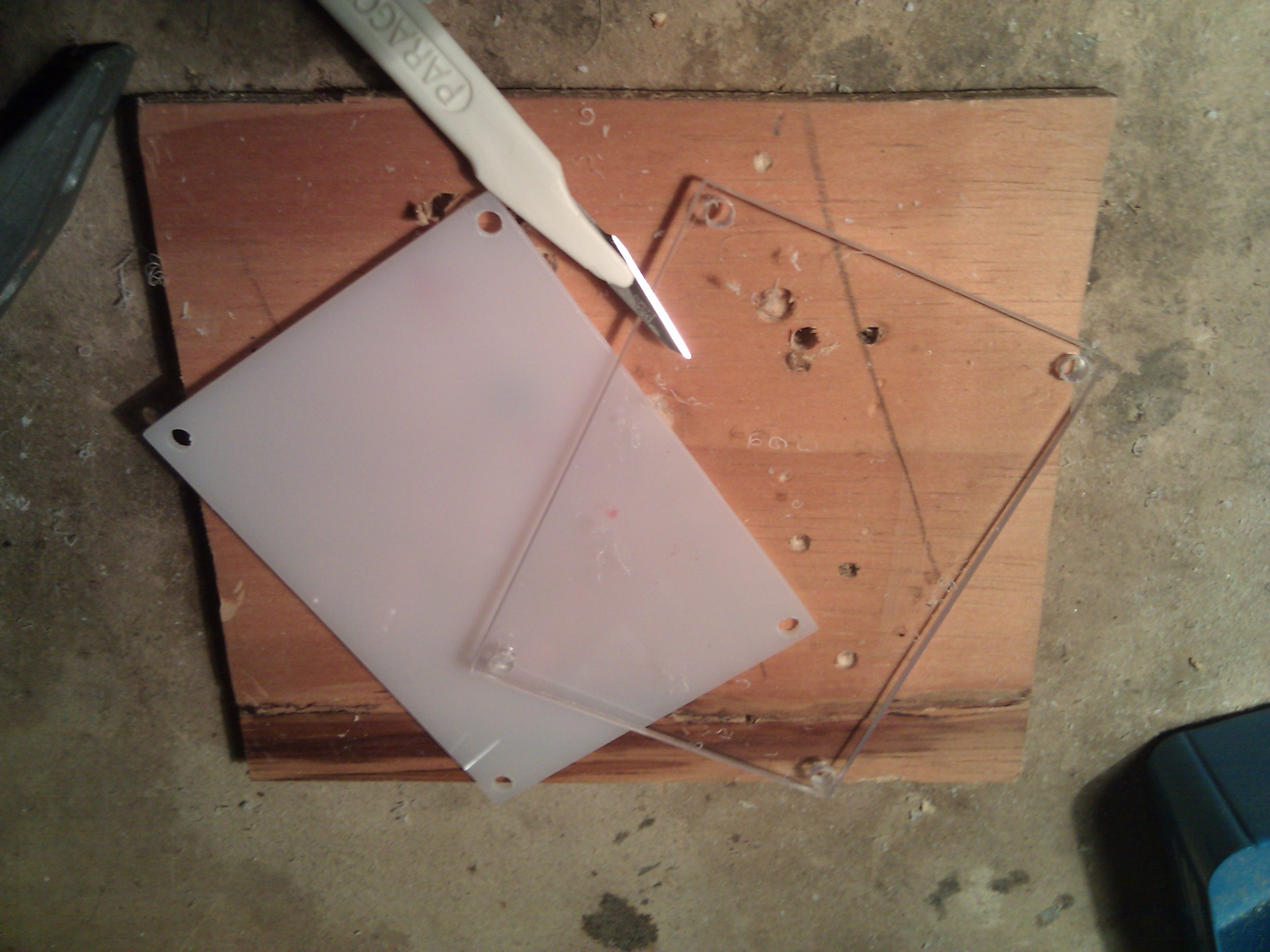 PVCCase: pvc pieces and the knife